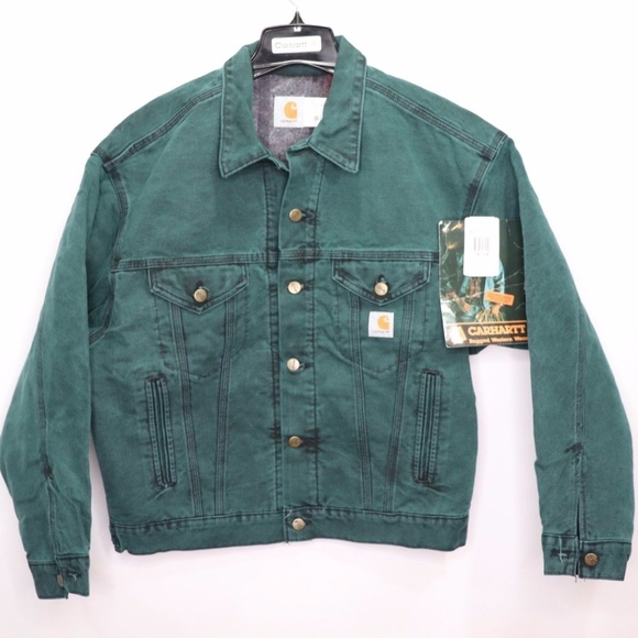 ee3f058a84 Carhartt Jackets & Coats | Vintage New Stone Wash Denim Jacket Green ...